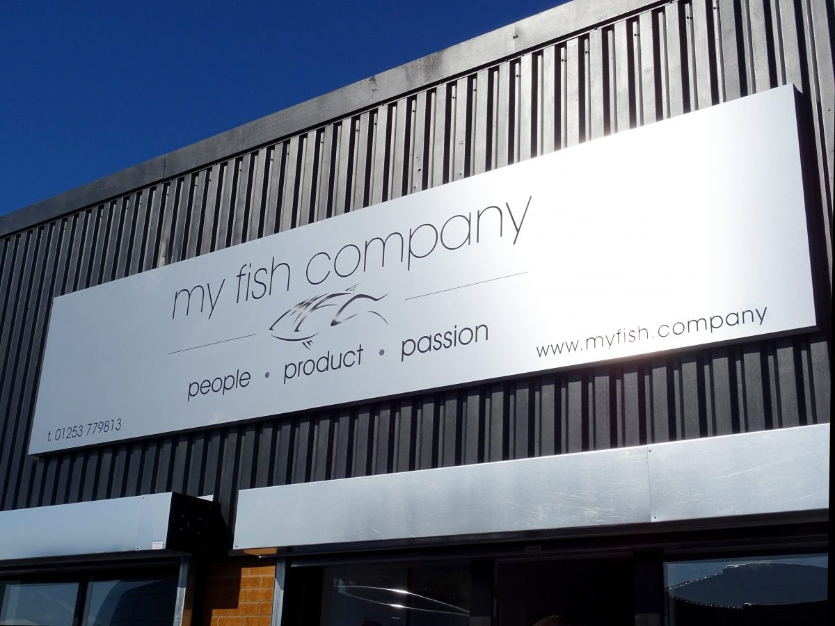 Warehouse signage created for My Fish Company